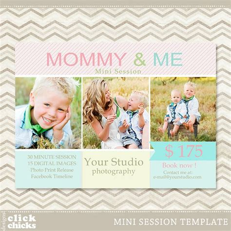 Mini Session Mommy Me Photography Marketing Template 006 Free Photography Marketing Templates
