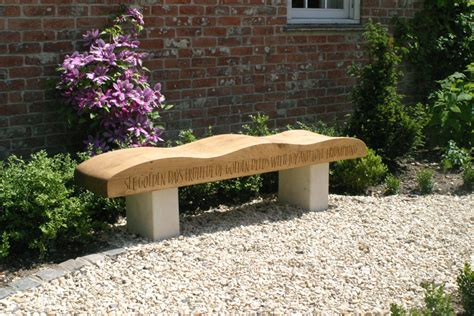 oak garden benches oak garden bench hand carved with verse by martin cook studio