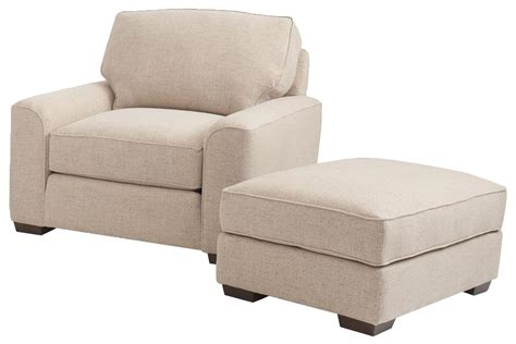 Retro Styled Chair And Ottoman Set By Smith Brothers