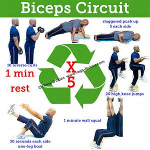 20 minute biceps circuit routine vegalicious