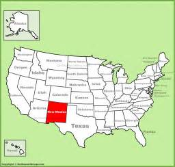 us map new mexico state new mexico location on the u s map