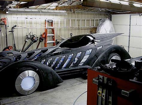 Batman Garage by Sculptor Builds Working Batman Forever Batmobile In Garage