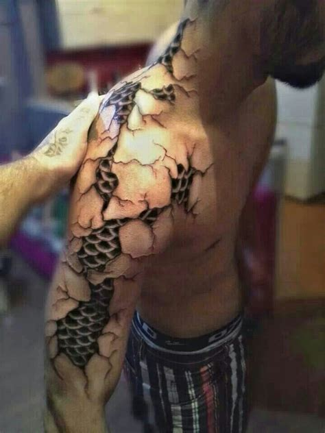 3d tattoo on black skin 3d dark art tattoos of ripping through skin google