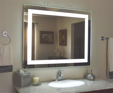 Light Up Mirrors Bathroom Lighted Bathroom Vanity Make Up Mirror Led Lighted Wall Mounted Mam84032 40x32 Ebay