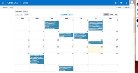 make outlook calendar event display events from an outlook calendar in sharepoint