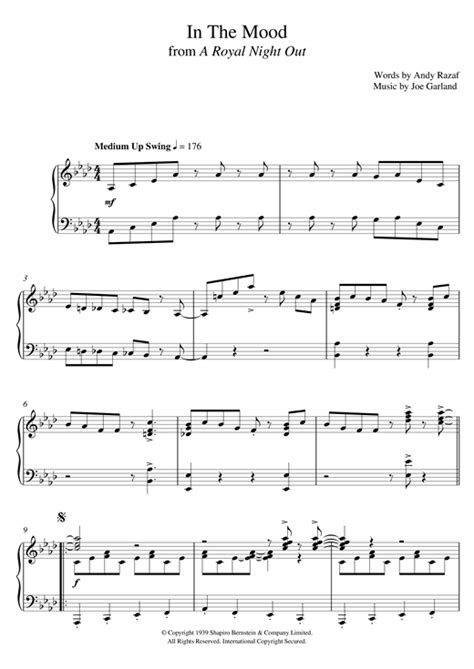 tutorial piano in the mood in the mood sheet music by paul englishby piano 121443