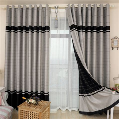 high quality finished curtains fabric stripe drapes