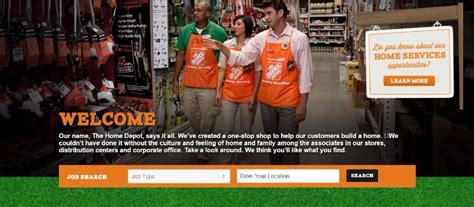 home depot application and employment resources