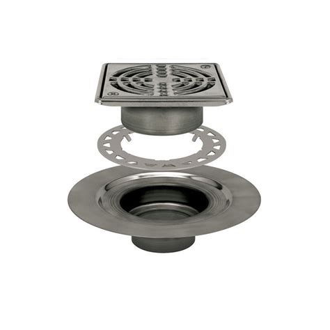 shop schluter systems stainless steel kerdi drain kit at lowes com