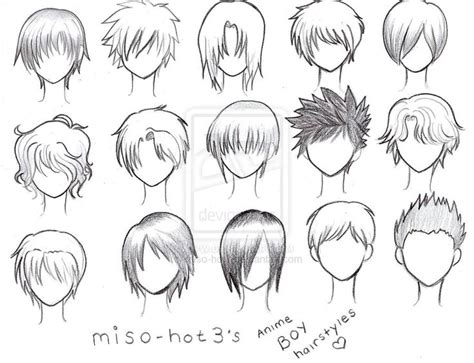anime hairstyles to draw anime guy hair drawing ideas pinterest guy hair
