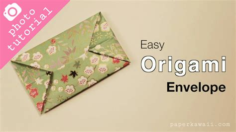 Origami Square Envelope - easy origami envelope photo tutorial paper kawaii