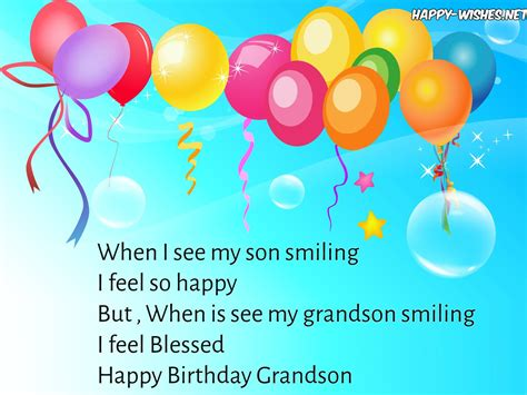 happy wishes for my happy birthday wishes for grandson quotes messages and