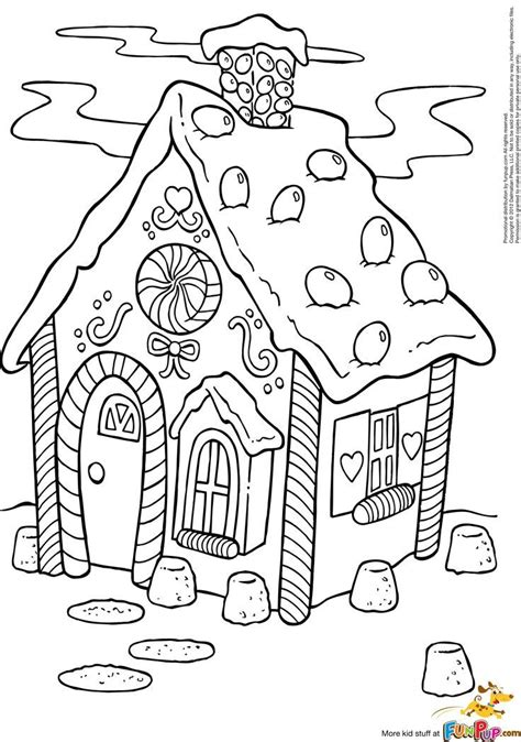 gingerbread house coloring page coloring pages