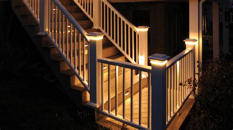 banister lights deck rail lighting deck lights outdoor lighting azek