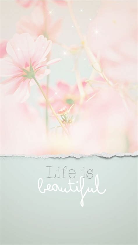 wallpaper hd iphone pastel pastel floral life is beautiful quote iphone wallpaper