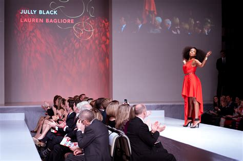 fashion has heart charity extravaganza file jully black wearing lauren bagliore heart and