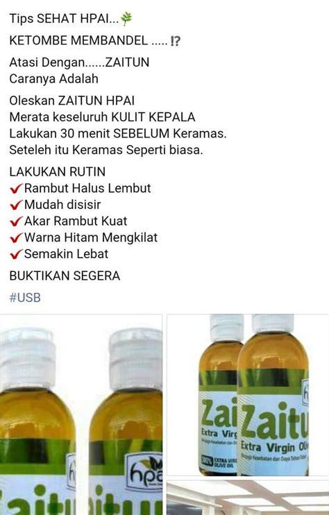 Minyak Zaitun Hpai 60ml jual minyak zaitun hpai olive 60 ml