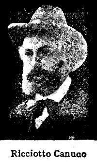 Ricciotto Canudo 1877-1923