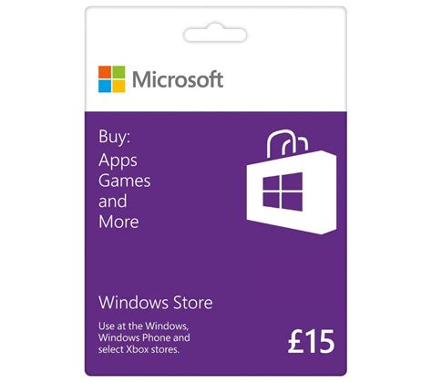 Gift Card Microsoft - buy microsoft windows store gift card 163 15 free delivery currys