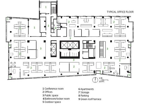 typical office floor plan solaripedia green architecture building projects in