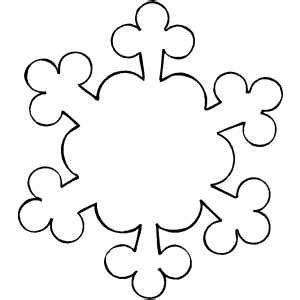 blank snowflake coloring page ornament snowflake coloring page
