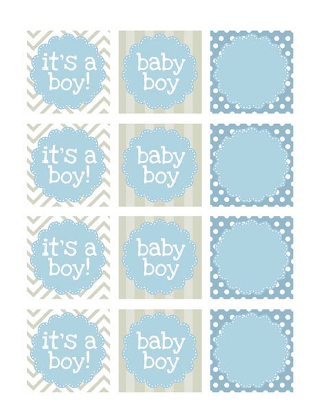 Boy Baby Shower Free Printables How To Nest For Less Baby Shower Stickers Template