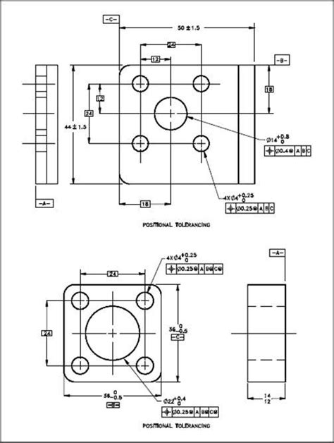 types of tolerance in engineering drawing clipartxtras