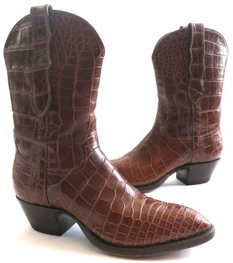 gator skin boots loveless s crocodile skin boots at 1stdibs