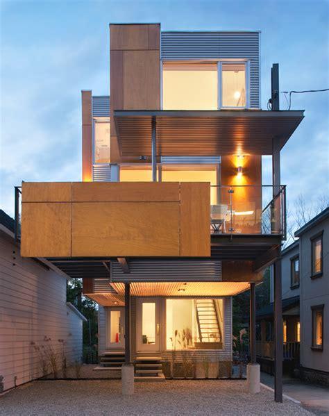 unique house design by colizza bruni architecture front to back infill contemporary exterior ottawa