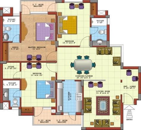 3 bedroom flat floor plan 3 bedroom flat plans in nigeria