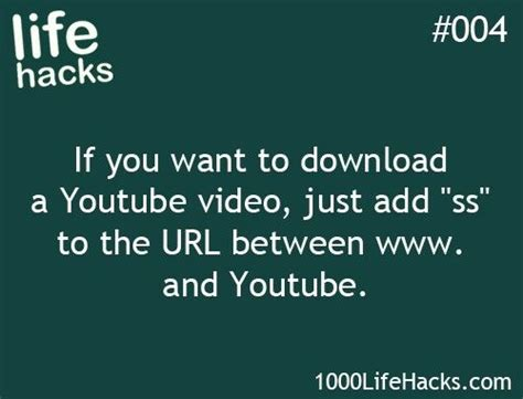 Download Youtube Life | life hacks youtube download from 1000lifehacks com life