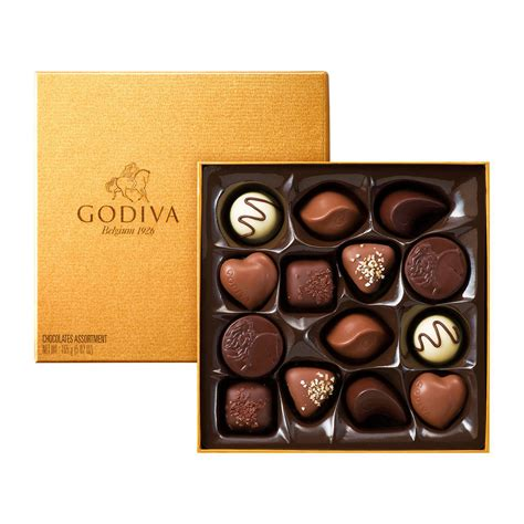 godiva chocolate godiva gold rigid box 14 chocolates delivery in europe