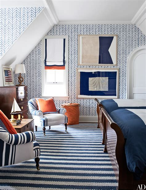 nautical interior how to decorate around boldly patterned wallpaper photos