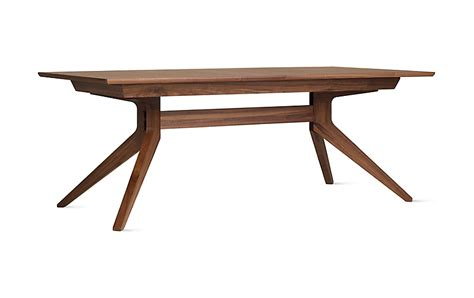 dwr dining table cross extension table design within reach