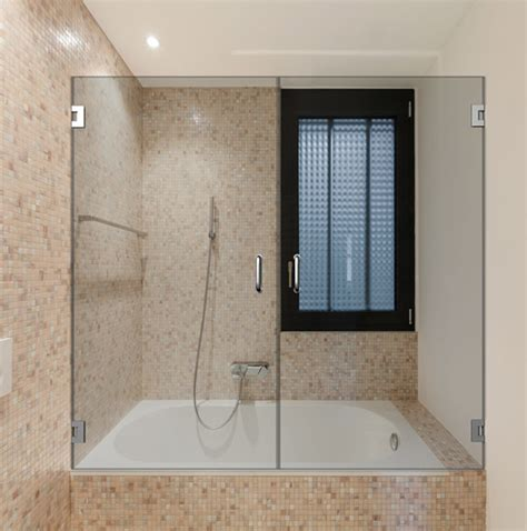 swinging shower door double dual swinging bathtub doors dulles glass