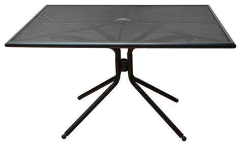 Mesh Top Patio Table Shop Houzz Dhc Furniture Rectangular Patio Table Steel Mesh Top With Sting Holes