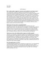 Self Evaluation Essay by Modal Title