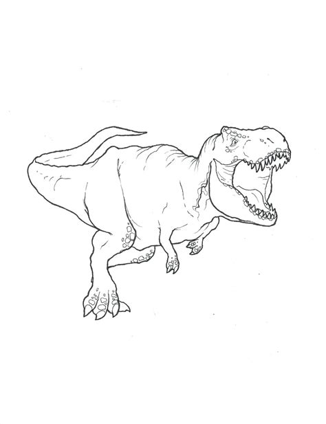 T Rex Coloring Page By Stuntmanmike666 On Deviantart T Rex Coloring Page