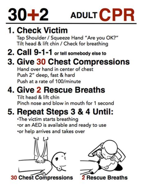 printable cpr instructions cpr instructions 30 2