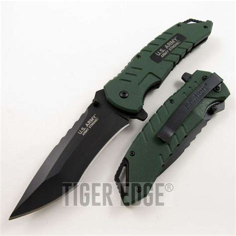 army knife us army green g10 assisted tactical folding pocket knife edc