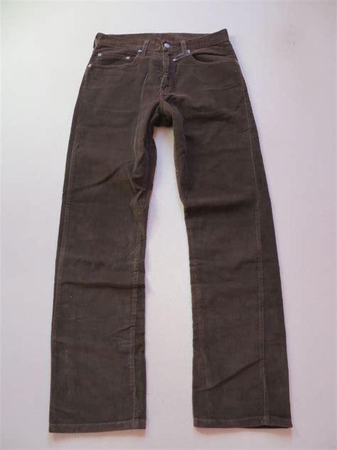 most comfortable levis jeans levi s 505 corduroy jeans trousers w 31 l 32 brown