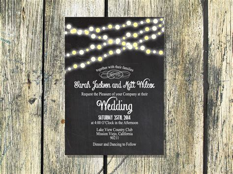 printable wedding invitation backyard by foxycouturepapercuts