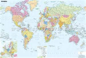 buy world political map with cities