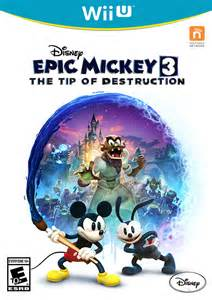 Rabbit Wall Stickers epic mickey 3 wii u front cover by creativeanthony on