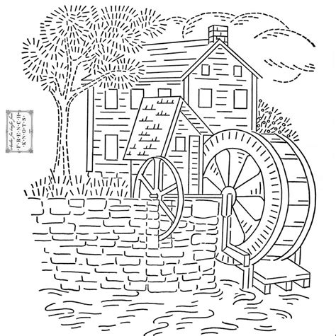 house embroidery pattern free old mill house embroidery transfer pattern