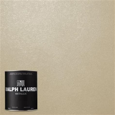 ralph 1 qt oyster metallic specialty finish interior paint me130 04 the home depot