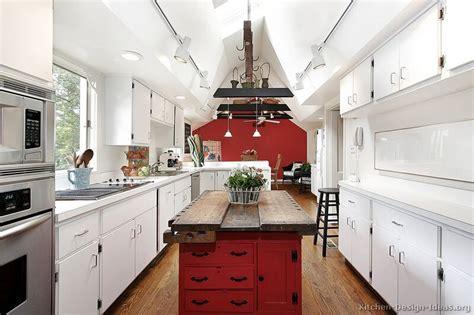 red kitchen white cabinets pictures of kitchens traditional red kitchen cabinets