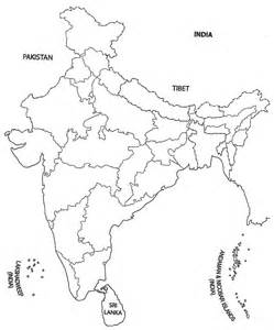 India Physical Map Outline In A4 Size by India Map Outline A4 Size