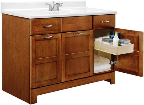 Bathroom Cream Vanity Cabinet With Storage And White Sink Bathrooms Vanity Cabinets