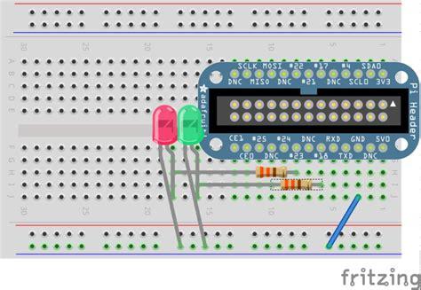 led resistor raspberry pi wire leds raspberry pi e mail notifier using leds adafruit learning system